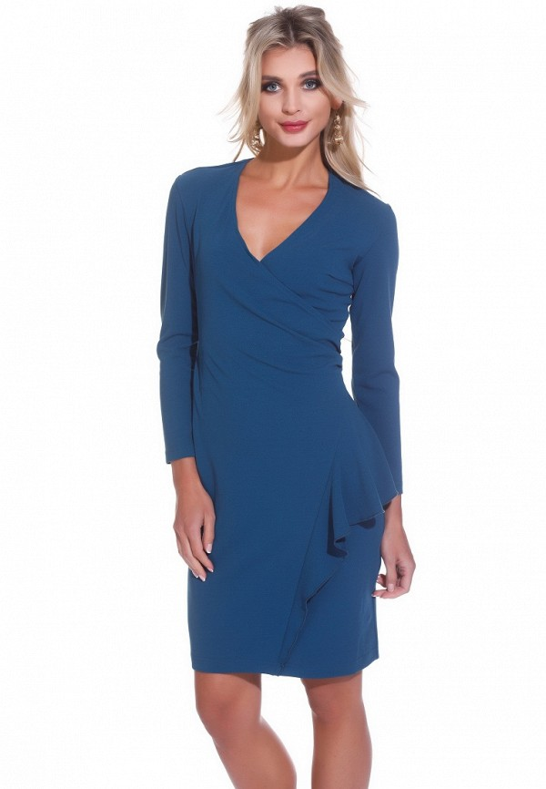 Купить Платье Gloss, MP002XW13TD6, голубой, Весна-лето 2018