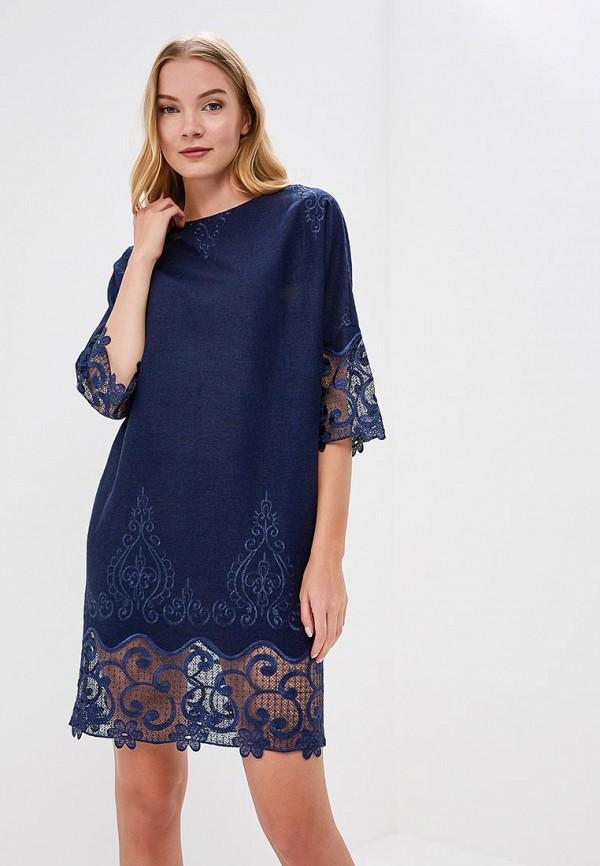 Купить Женское платье Lautus синего цвета