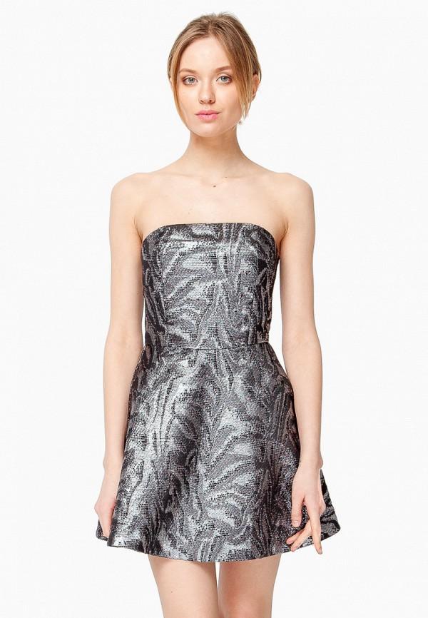 женское вечерние платье nai lu-na by anastasia ivanova, серебряное