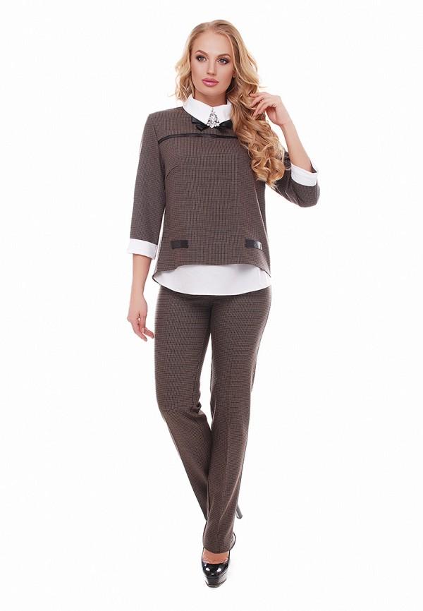 женский костюм vlavi, коричневый