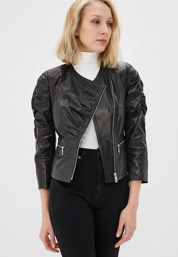 Купить Куртка кожаная Grafinia, mp002xw13ua9, черный, Весна-лето 2017