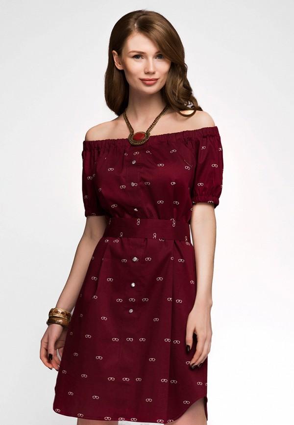 Купить Платье 1001dress, MP002XW13UL0, бордовый, Весна-лето 2018
