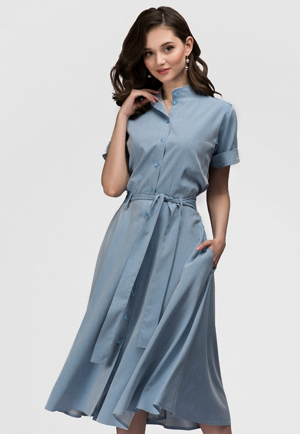 Платье джинсовое D&M by 1001 dress D&M by 1001 dress MP002XW13UL7 джинсовое платье quelle ashley brooke by heine 55726
