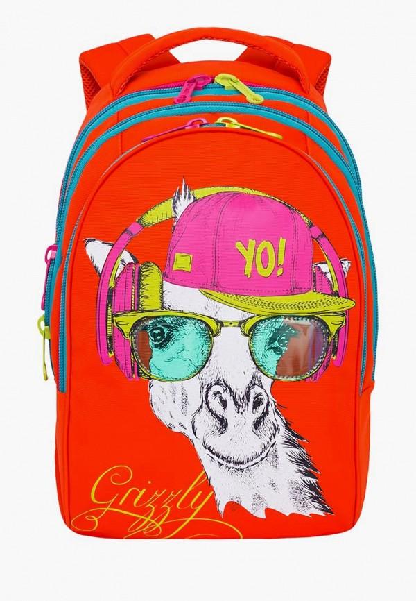 женский рюкзак grizzly, оранжевый