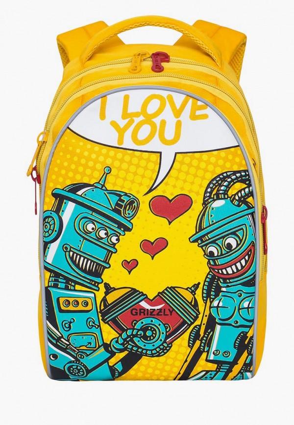 женский рюкзак grizzly, желтый