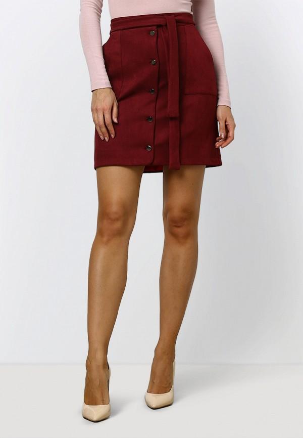 женская прямые юбка zerkala, бордовая