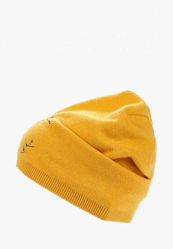 женская шапка moltini, желтая