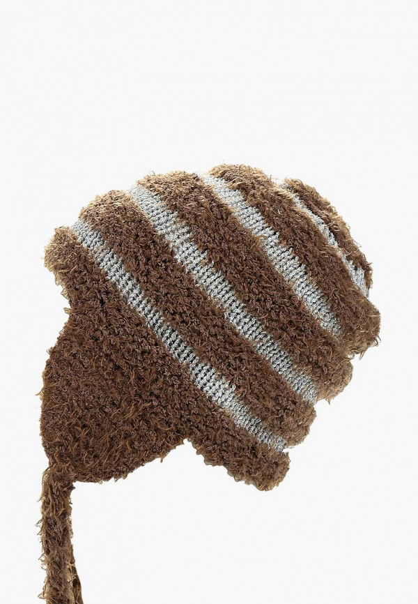 женская шапка moltini, коричневая