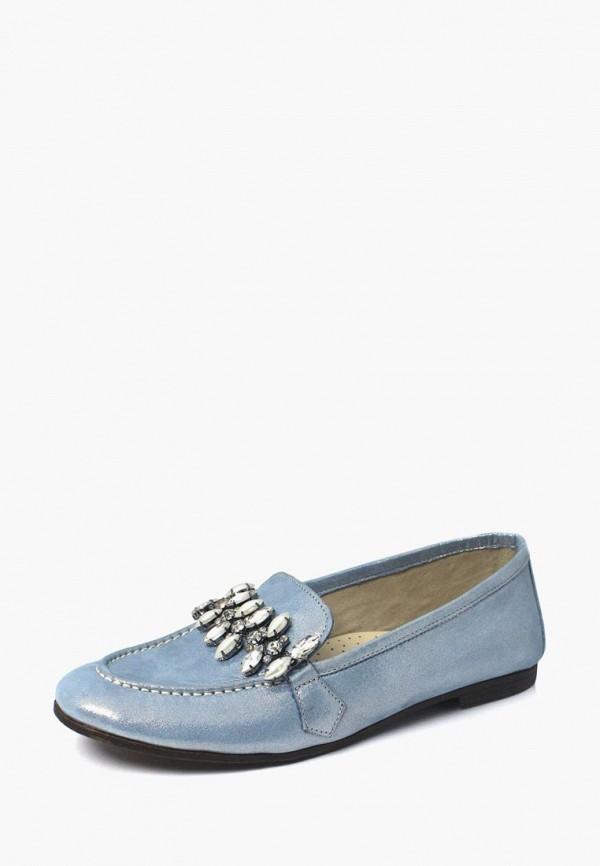 женские мокасины blizzarini, голубые
