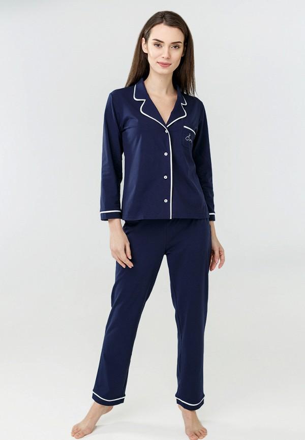 женская пижама ora, синяя