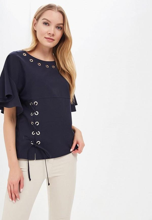Блуза Mari Vera, mp002xw13ymw, синий, Весна-лето 2018  - купить со скидкой