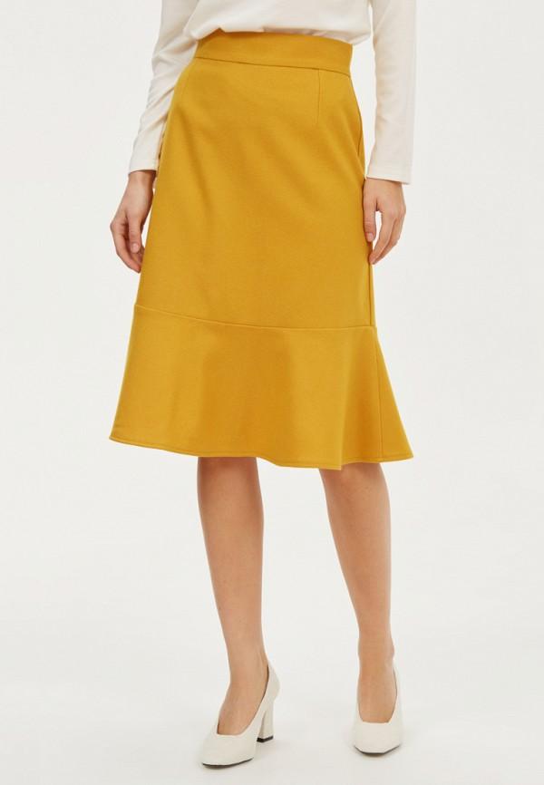 женская прямые юбка base forms, желтая