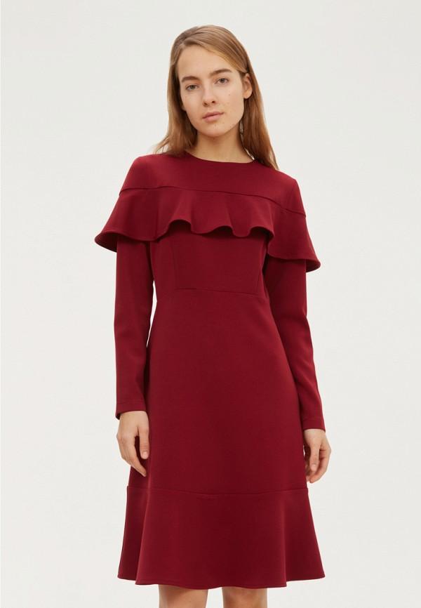 женское платье base forms, бордовое