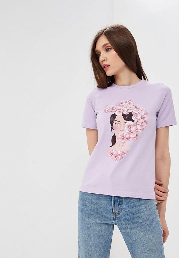 Купить Футболка Fashion.Love.Story, MP002XW13ZMH, фиолетовый, Весна-лето 2018