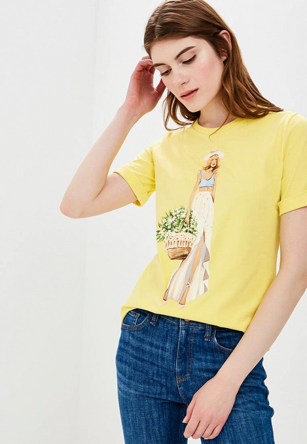 Купить Футболка Fashion.Love.Story, MP002XW13ZMI, желтый, Весна-лето 2018