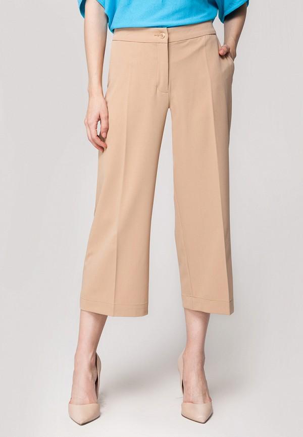 женские брюки клеш vilatte, бежевые