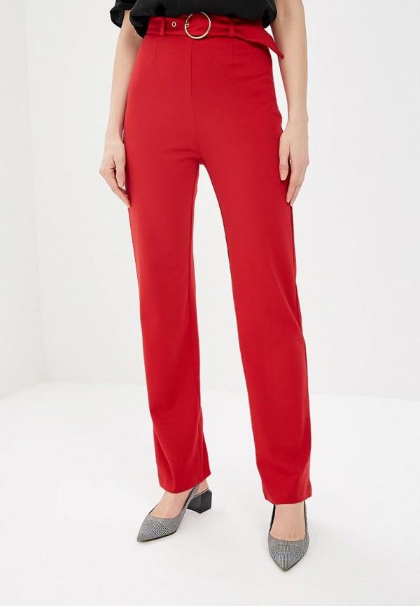 женские повседневные брюки royal elegance, красные
