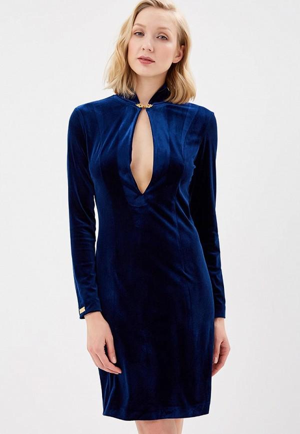 женское вечерние платье royal elegance, синее