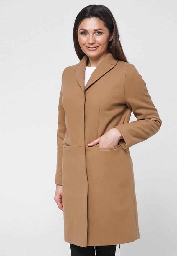 женское пальто florens, коричневое