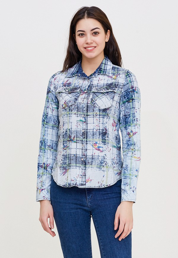 Купить Рубашка DSHE, mp002xw140u5, голубой, Весна-лето 2018