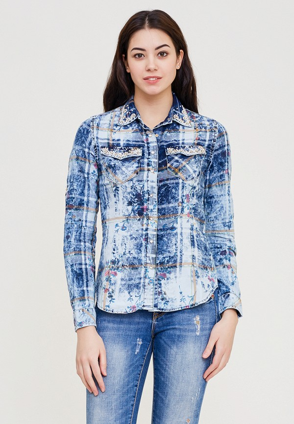 Купить Рубашка DSHE, mp002xw140u6, голубой, Весна-лето 2018