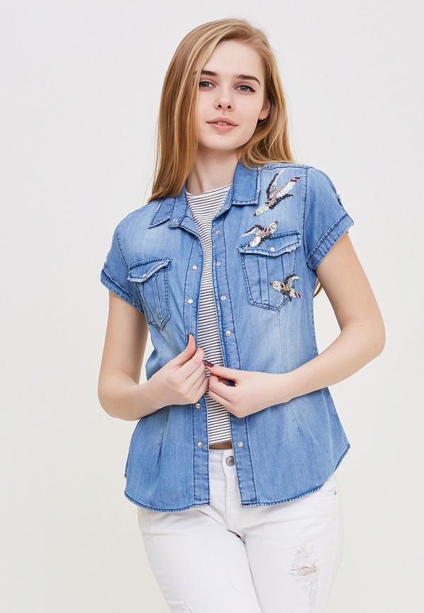 Купить Рубашка джинсовая DSHE, MP002XW140UF, голубой, Весна-лето 2018