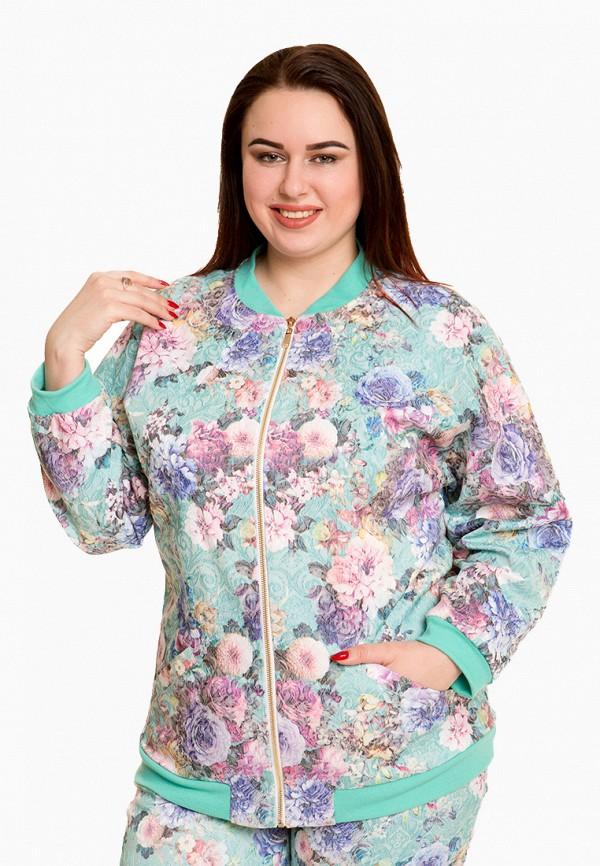 женская куртка luxury plus, бирюзовая