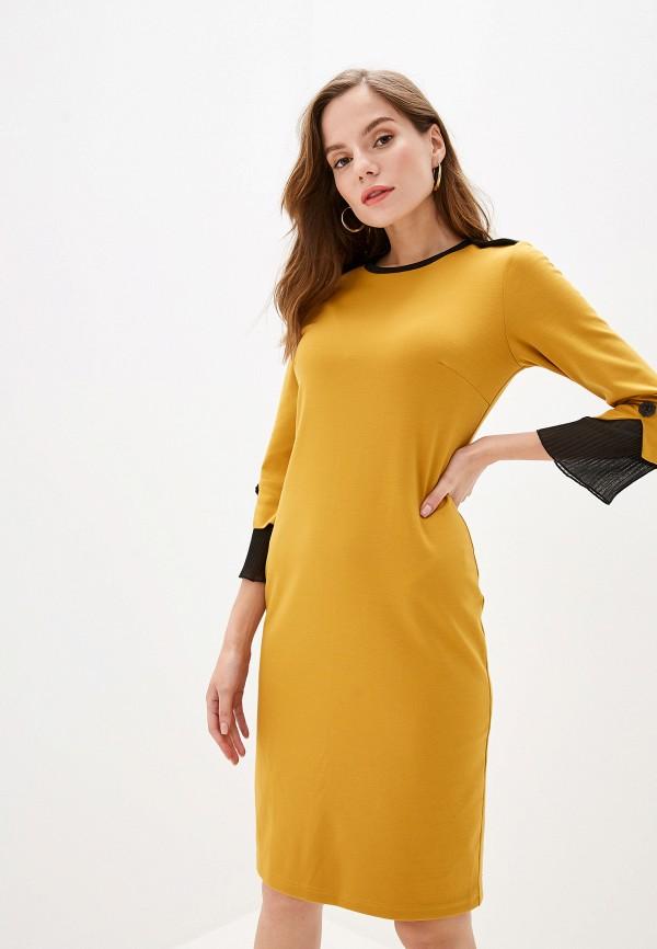 женское платье adzhedo, желтое