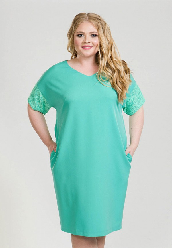 женское платье luxury plus, бирюзовое