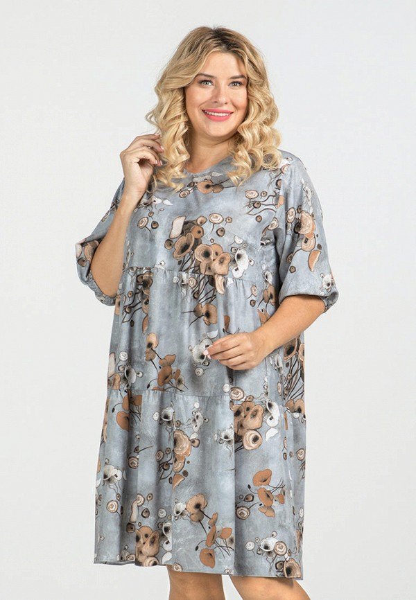 женское платье luxury plus, серое