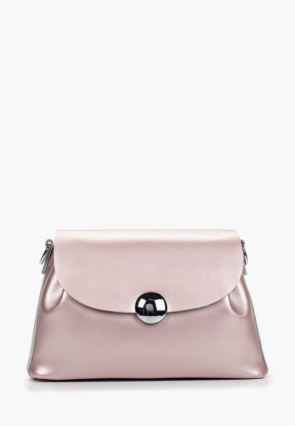 женская сумка roberto jolini, розовая