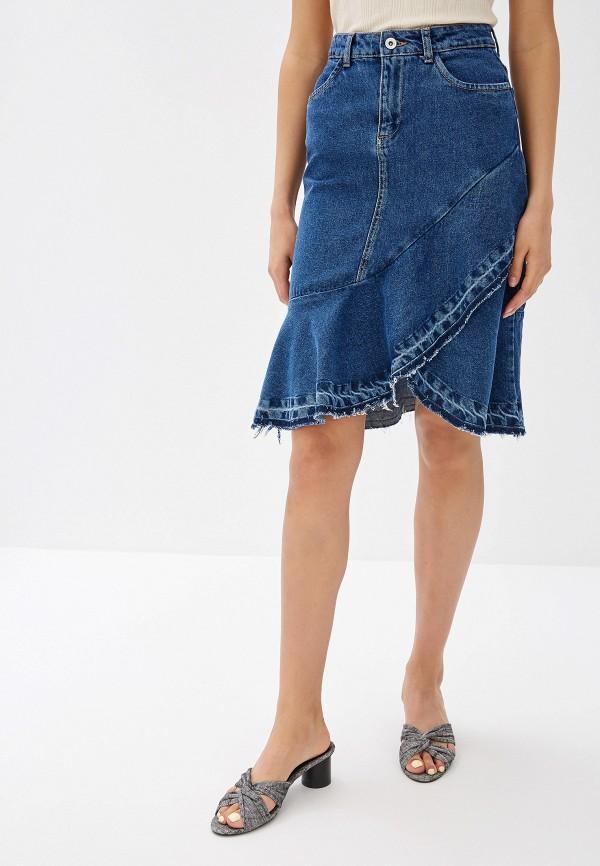 Юбка джинсовая Top Secret Top Secret MP002XW14BU1 юбка top secret цвет темно синий ssd0783gr34[e] размер 34 40
