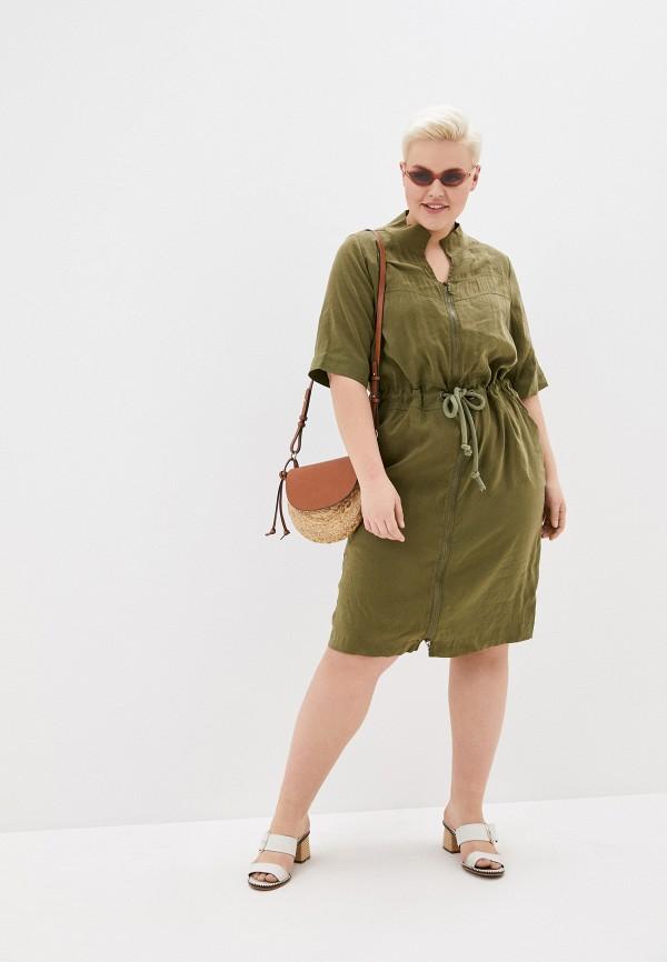 Фото 2 - Женское платье Joymiss цвета хаки