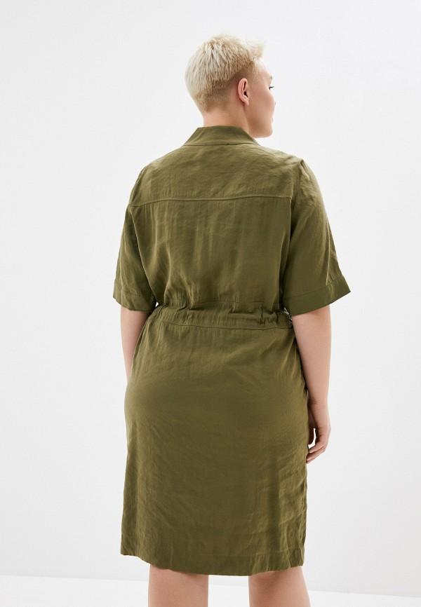 Фото 3 - Женское платье Joymiss цвета хаки