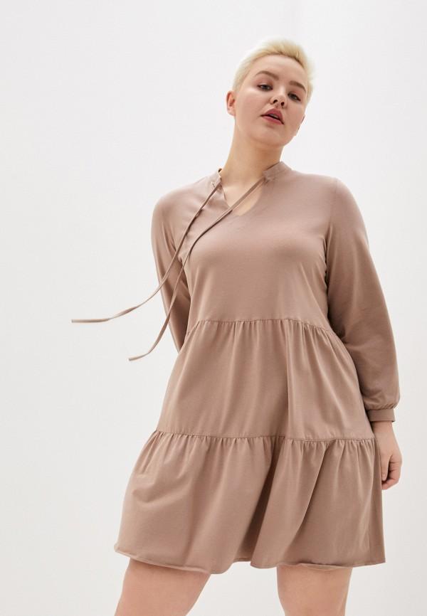 женская туника olsi, коричневая
