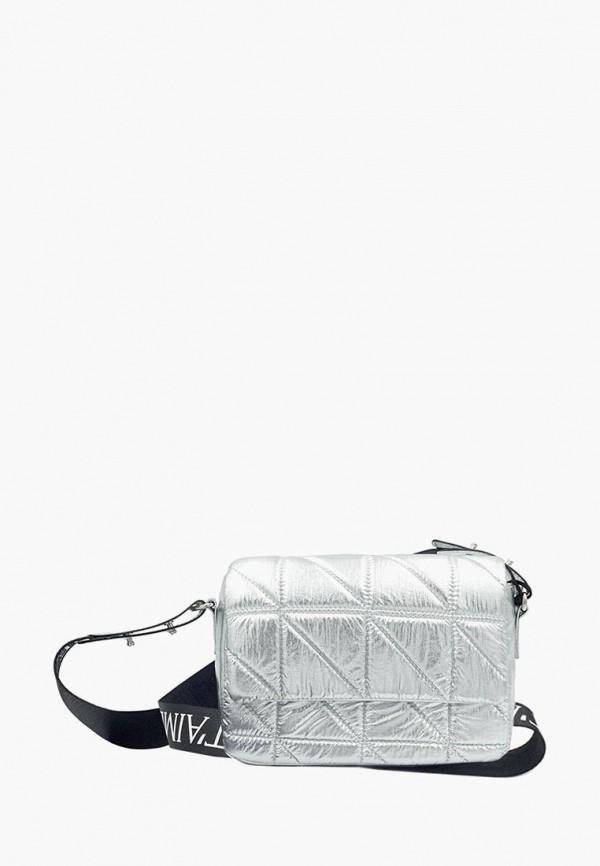 женская сумка icone, серебряная