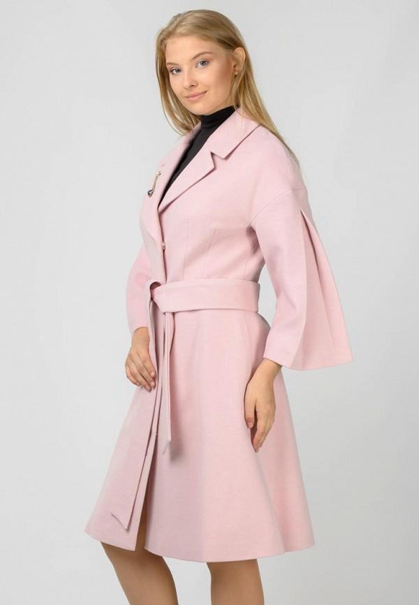 женское пальто raslov, розовое