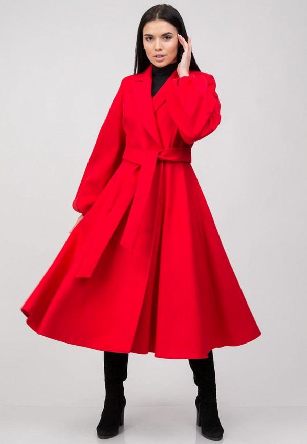 женское пальто raslov, красное