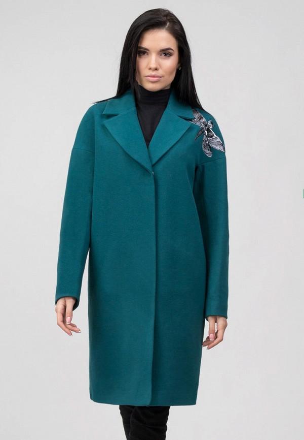 женское пальто raslov, бирюзовое