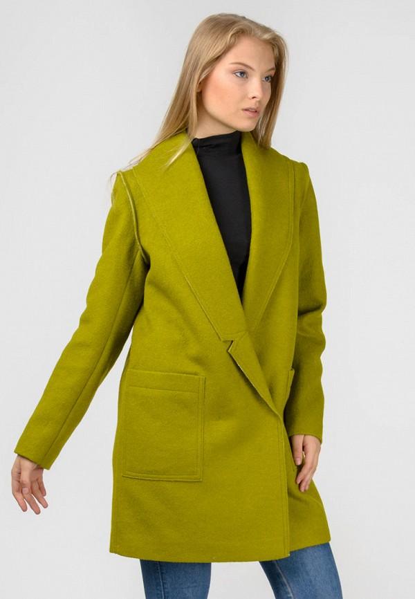 женское пальто raslov, зеленое