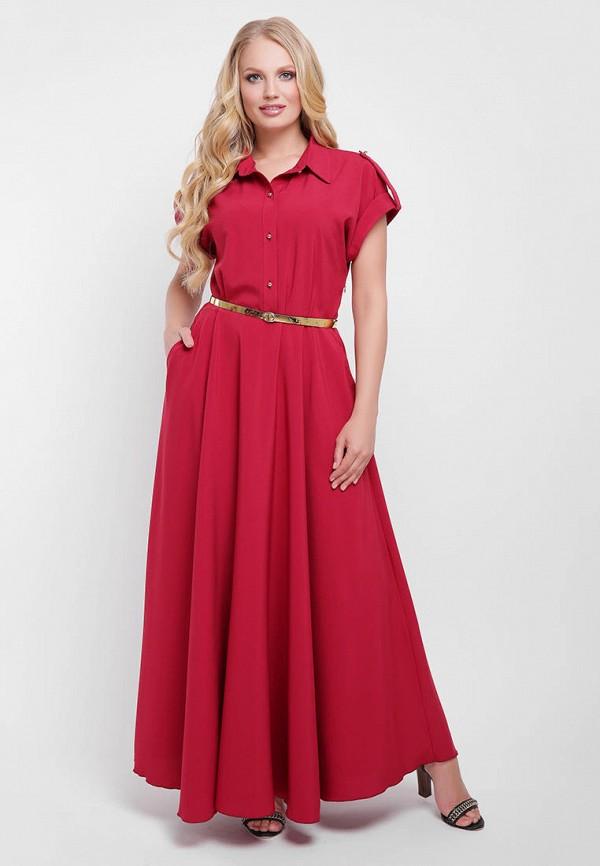 женское повседневные платье vlavi, красное