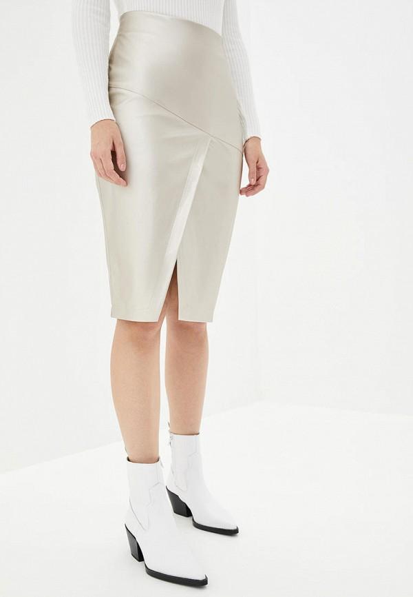 женская юбка ricamare, серебряная