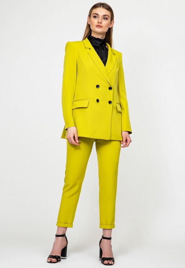 женский костюм itelle, желтый