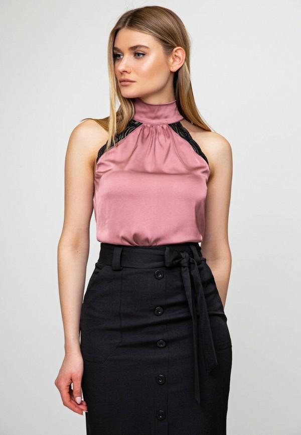 женская блузка itelle, розовая