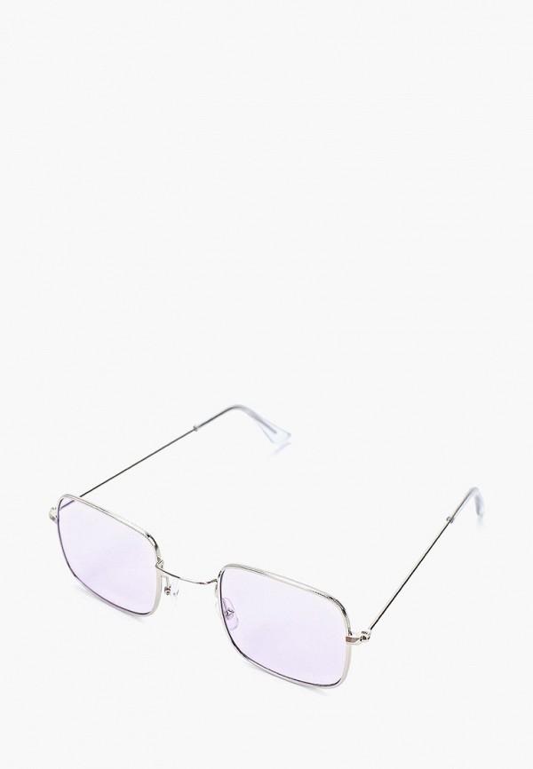 женские квадратные солнцезащитные очки wow miami, фиолетовые