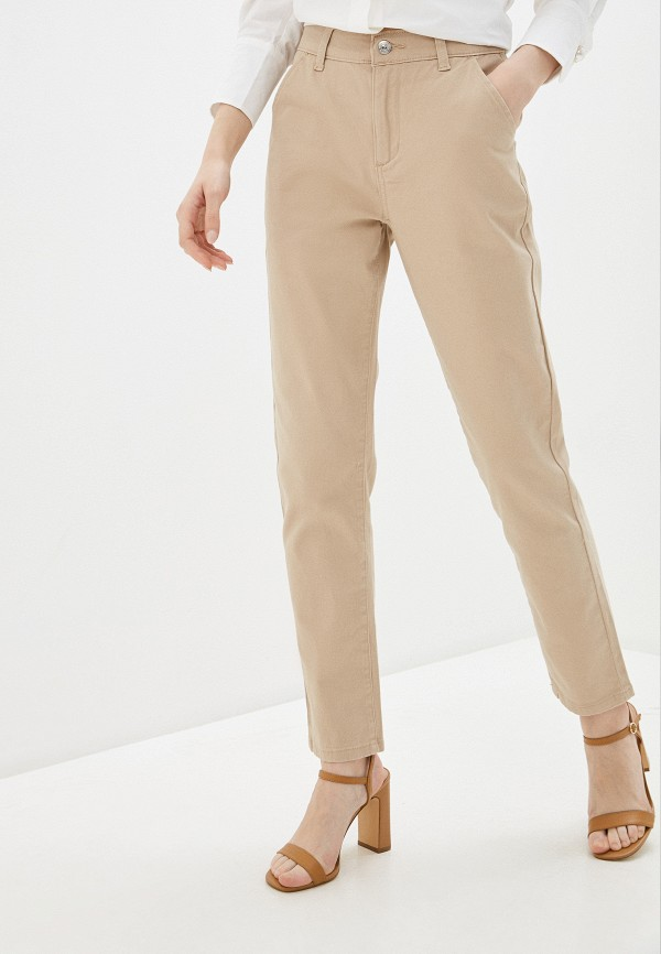 женские повседневные брюки zarina, бежевые