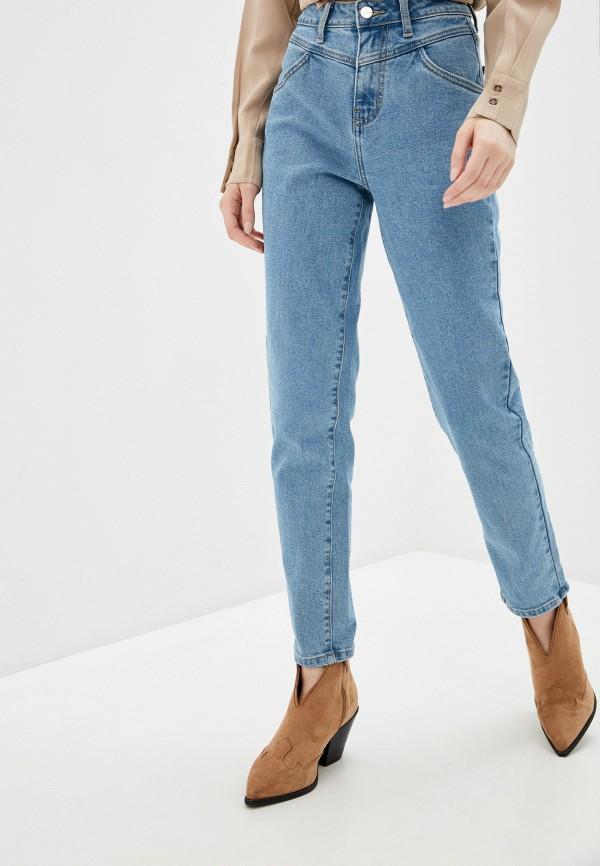 женские джинсы-мом zarina, голубые