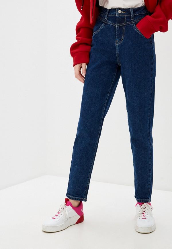 женские джинсы-мом zarina, синие
