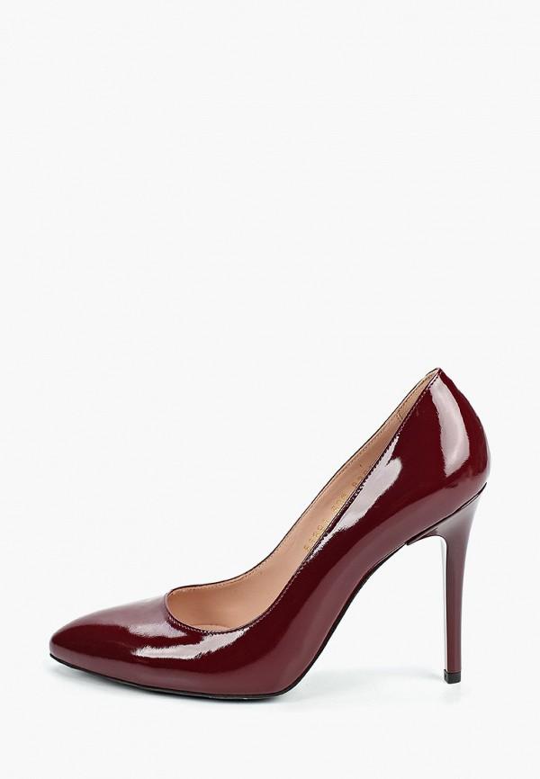 женские туфли-лодочки giotto, бордовые