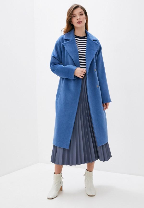 Фото 2 - Женское пальто или плащ Aylin Stories синего цвета